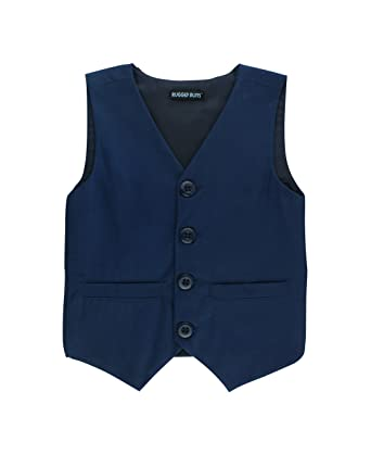 32aaaf4ee Amazon.com  RuggedButts Infant Toddler Boys Navy Blue Chino Vest ...