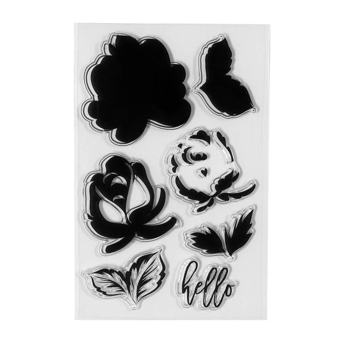 Spellbinders STP-001 Clear Stamp Set Layered Rose