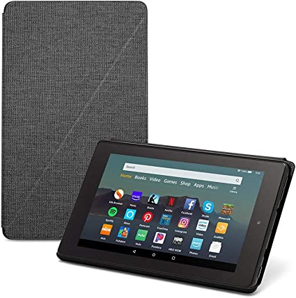 Amazon Com Fire 7 Tablet Case Compatible With 9th Generation 2019 Release Charcoal Black Kindle Store