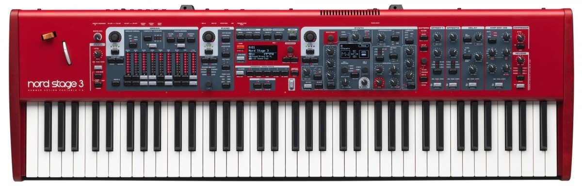 Nord Stage 3 Compact 73-Key Digital Stage Piano with Semi-Weighted Keybed American Music and Sound AMS-NSTAGE3-COMPACT