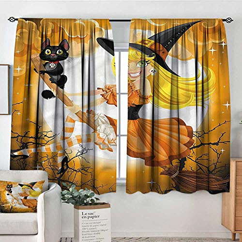 Halloween,Nursery/Baby Care Curtains Cute Witch 52