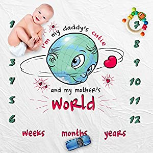 Amazon giveaway monthly baby milestone blanket large baby swaddle receiving blanket picture photo prop swaddling blanket for photography frame months for baby new mom baby shower gift for girls and boy negle Images