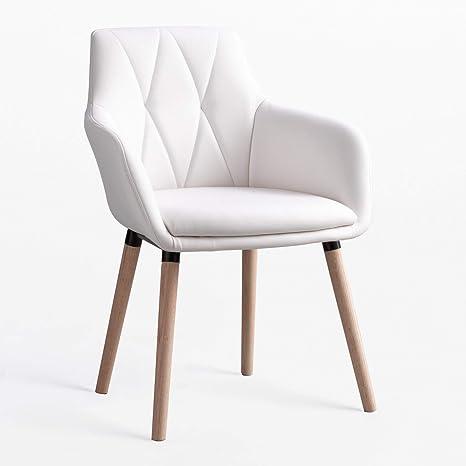 Sklum Marh Padded Dining Chair White More Colours Amazon De Kuche Haushalt