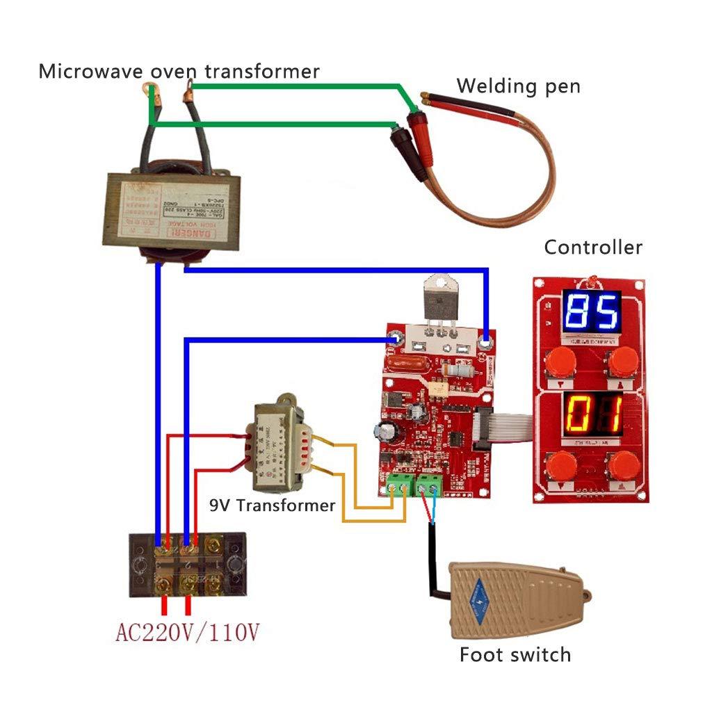 Goodqueen 1 Ny D04 Diy Spot Welding Transformer Diagram Of Controller 40a Home Improvement