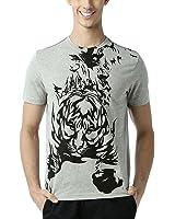 Huetrap Men's Crouching Tiger Grey T Shirt