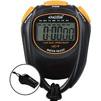 Schütt Stopwatch HC-7 met fluitje, digitale stopwatch met groot display en goed drukpunt, hobby, sport, vrije tijd…