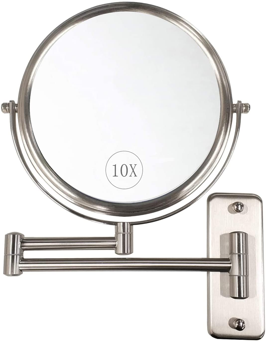 ALHAKIN 10X Non-Lighted Wall Mounted Makeup Mirror Reviews
