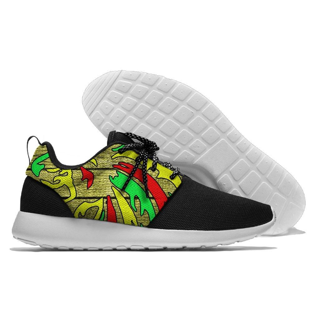 Rastafari Rasta Lion Reggae Womens Mens Running Shoes Fashion Sneakers Casual Sports Shoes 43 Lightweight Breathable by MIRTI