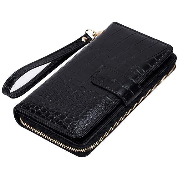 Amazon.com: Cartera de tarjeta de crédito para mujer, L ...