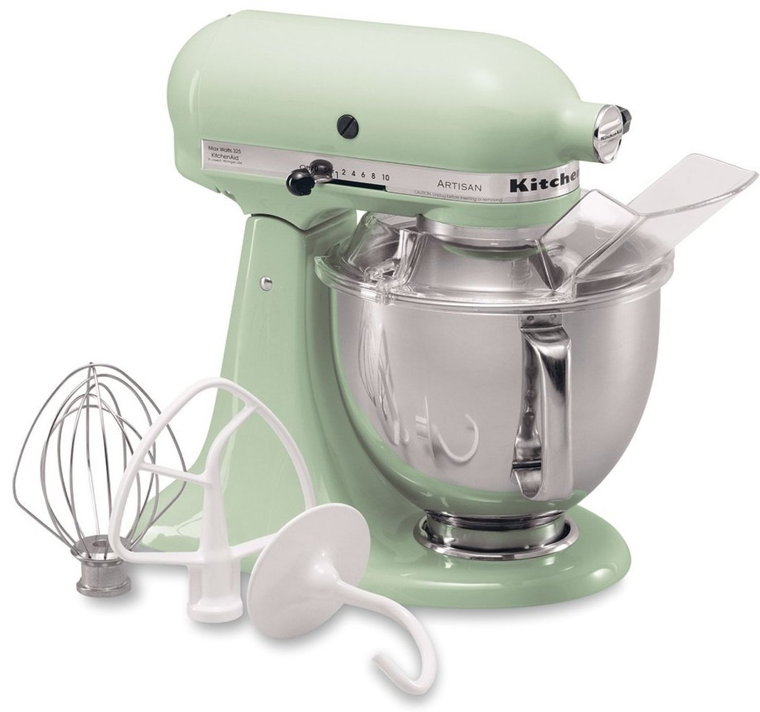 KitchenAid Artisan 5KSM175PSEPT 5 Qt.Stand Mixer Pistachio with TWO Bowls & Flex Edge Beater 220 VOLTS NOT FOR USA