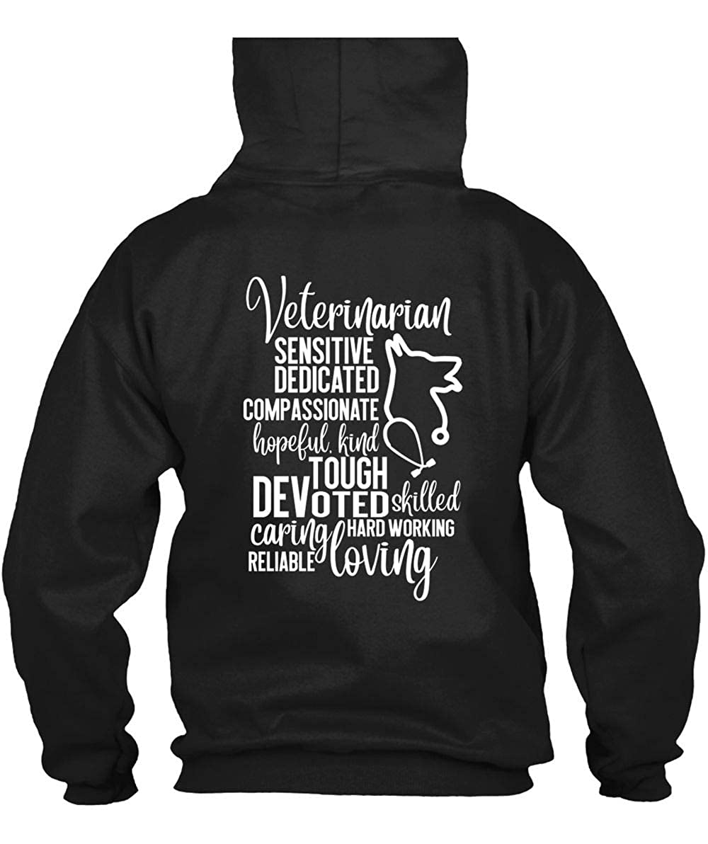 Hard Working Reliable Loving S Veterinarian Sensitive Dedicated T Shirt