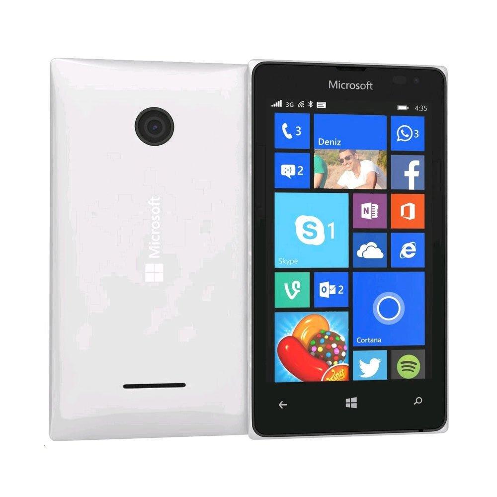 Microsoft Lumia 435 Windows 8 GSM Smartphone, No Contract, T-Mobile, White by Microsoft (Image #1)