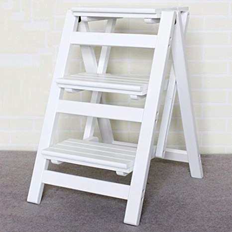 Super Amazon Com Nshun Folding Step Stool 3 Tier Wood Ladder Gmtry Best Dining Table And Chair Ideas Images Gmtryco