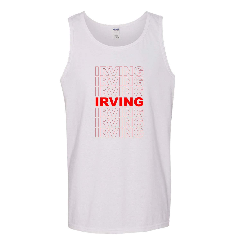 Red Box Logo Irving City Pride Mens Graphic Tank Top