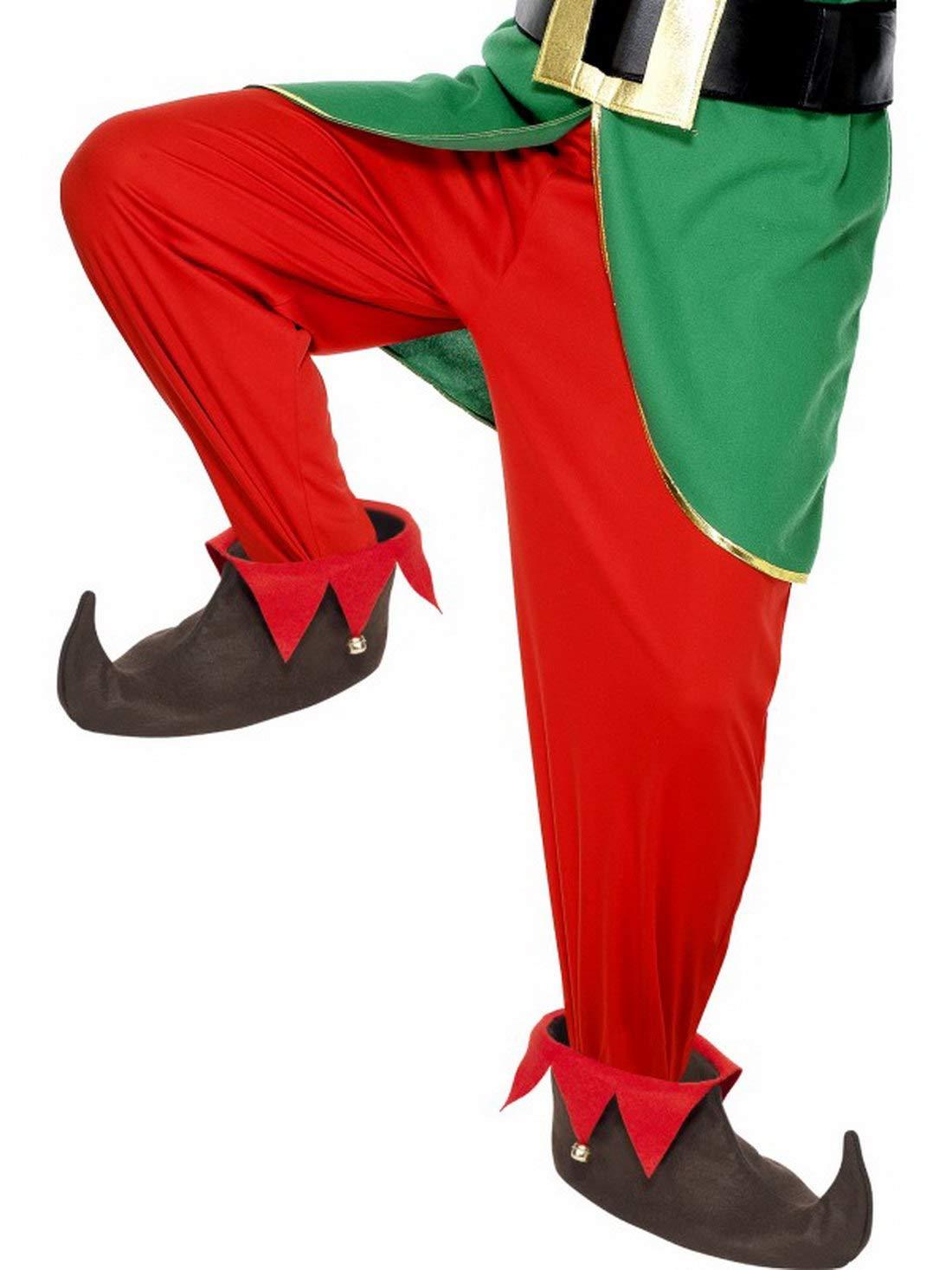 Karnevalsbud Schwarz perfekt f/ür Weihnachten Karneval und Fasching Kost/üm Accessoires Zubeh/ör Kobold Elfen Schuhe mit Gl/öckchen Elf Shoes