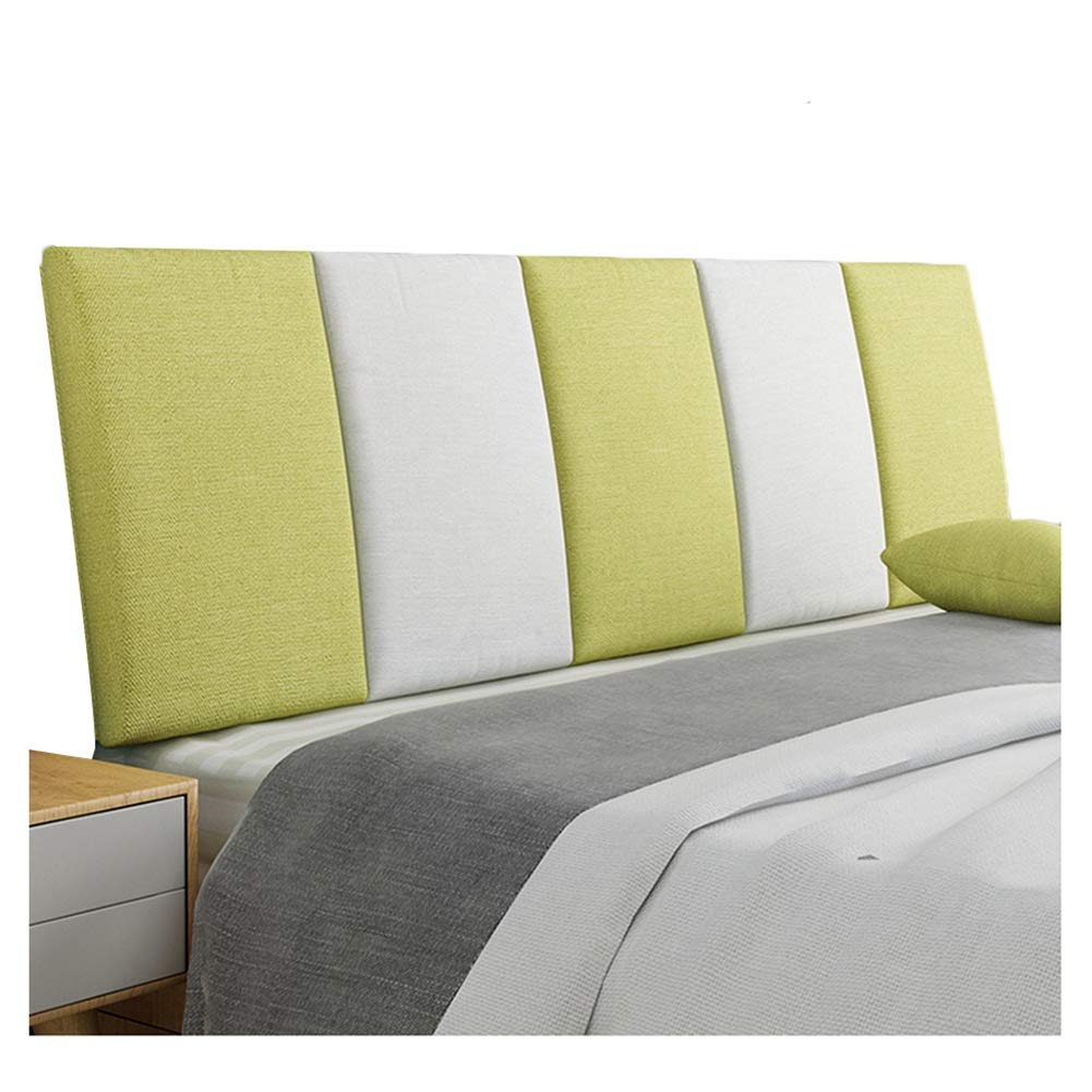 B 90x55cm WENZHE Upholstered Fabric Upholstered Headboard Pillow Bedside Cushion Wedges Backrest Waist Pad Flax Cloth Bedside Soft Case Washable Backrest Home Bedroom, 5 colors (color   A, Size   150x55cm)