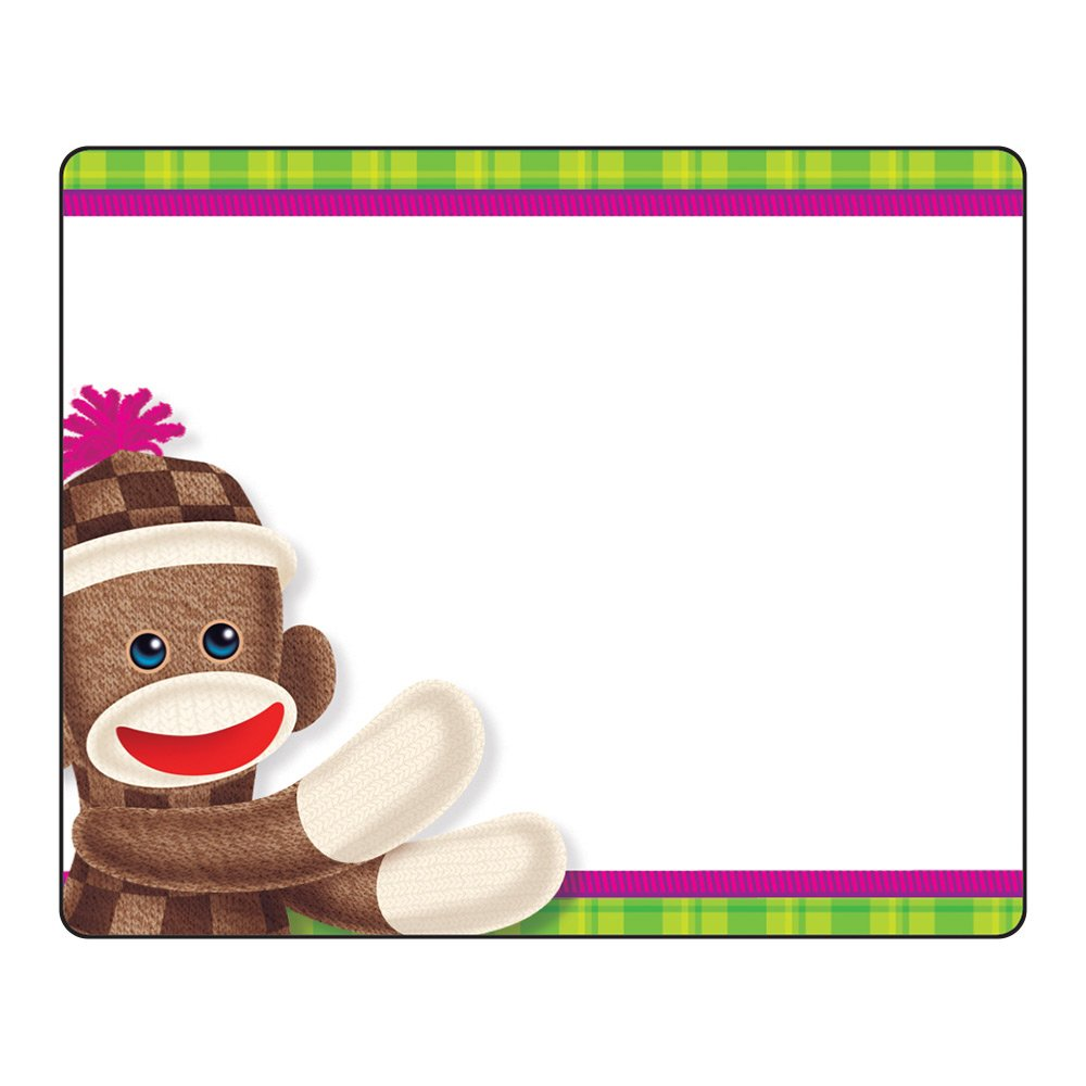 Trend Enterprises Sock Monkeys Terrific Labels (36 Piece), 2-1/2' x 3'
