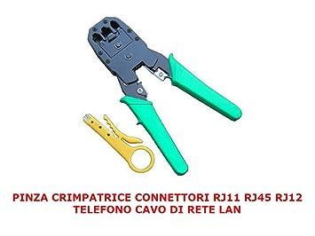 Herramienta de Crimpadora - Alicates de crimpado para RJ45, RJ11, RJ10: Amazon.es: Electrónica