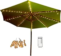 Aquelo Patio Umbrella Lights Warm WhiteBattery Operated String Light Led for Garden Umbrellas  sc 1 st  Amazon.com & Amazon Best Sellers: Best Patio Umbrella Lights