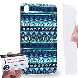 Case88 [HTC Desire 816] Gel TPU Carcasa/Funda & Tarjeta de garantía - Art Aztec Carpet Frozen Forrest Art2589