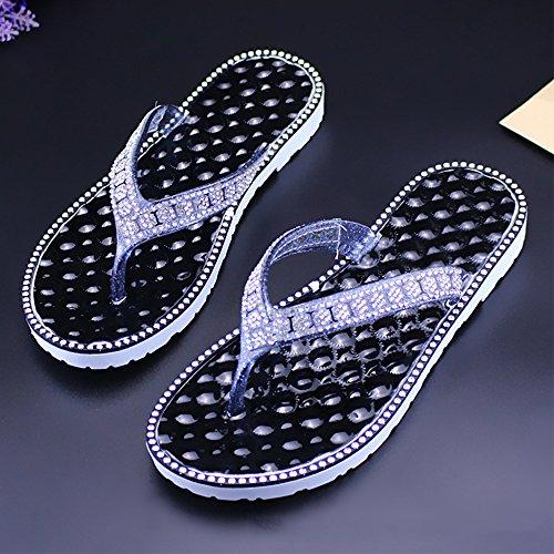 DULEE - Zapatillas de estar por casa de Caucho para mujer negro