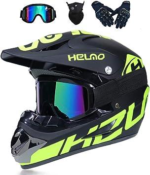 Mrdeer Motocross Helm Adult Off Road Helm Mit Handschuhe Maske Brille Unisex Motorradhelm Cross Helme Schutzhelm Atv Helm Für Männer Damen Sicherheit Schutz 5 Stile Verfügbar Sport Freizeit