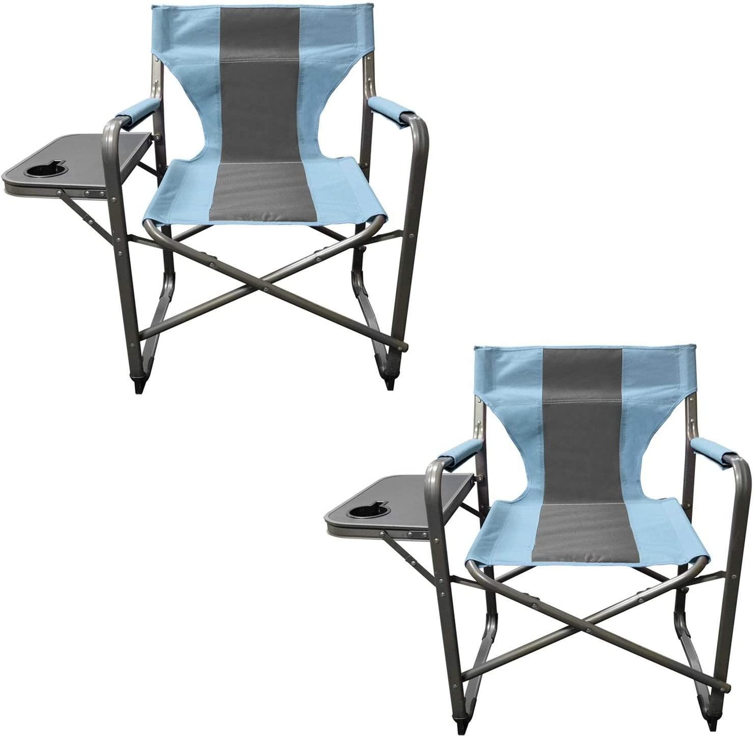 Caravan Sports DFC01022 Teal Gray 2PK Elite Director s Folding Chair