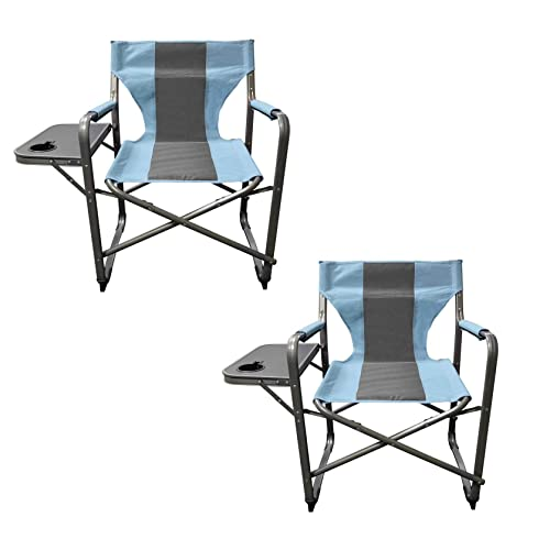BLUMFELDT Amalfi Outdoor Portable Folding Lounge Chair 5 Reclining Positions Sunshade Adjustable Pillow Resistant Polyester Cover Noble Grey
