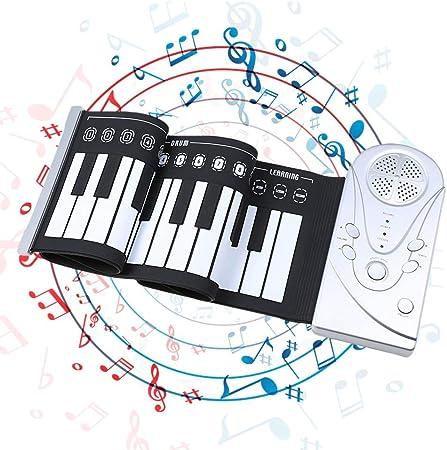 SH-CJ Rock Piano - Teclado digital (49 teclas, plegable ...