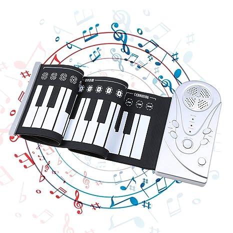 SH-CJ Rock Piano - Teclado digital (49 teclas, plegable, flexible,