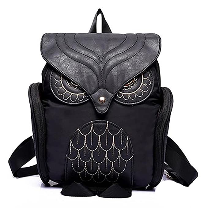 933de84506d6 Powerfulline Women s Fashion Punk Animal Owl Shape Backpack Bookbag School  Bag Shoulders Bag