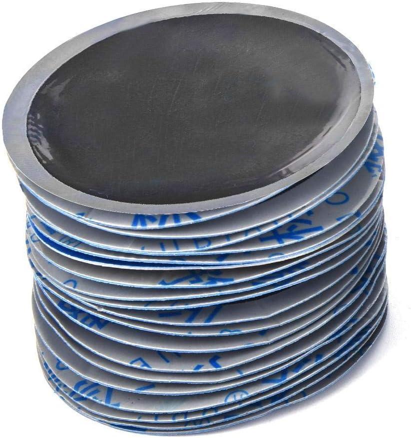58 x 58mm 80 St/ück Qiilu Reifenpflege Reparaturset f/ür Reifenpannen Reifenpanne Patches Patch Reifenreparatur Radial Reifenpflaster f/ür Auto//Motorrad//Fahrrad//LKW