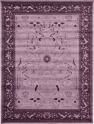 (Unique Loom La Jolla Collection Tone-on-Tone Traditional Purple Area Rug (10' 0 x 13' 0))