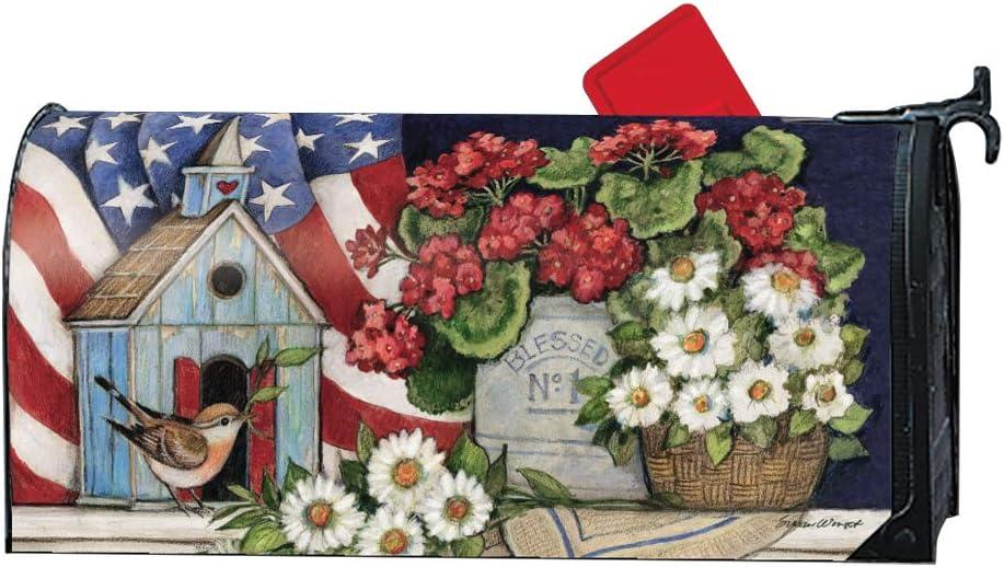 MailWraps Patriotic Birdhouse Magnetic Mailbox Cover