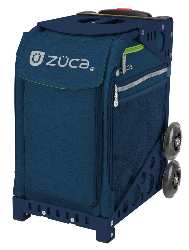 Zuca Deep Sea Navy Blue Sport Insert Bag and Navy Blue Frame w. Flashing Wheels by ZUCA