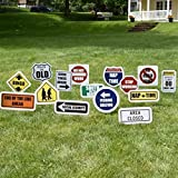 VictoryStore Yard Sign Outdoor Lawn Decorations: Retirement Yard Decoration, Retirement Road Signs with Stakes