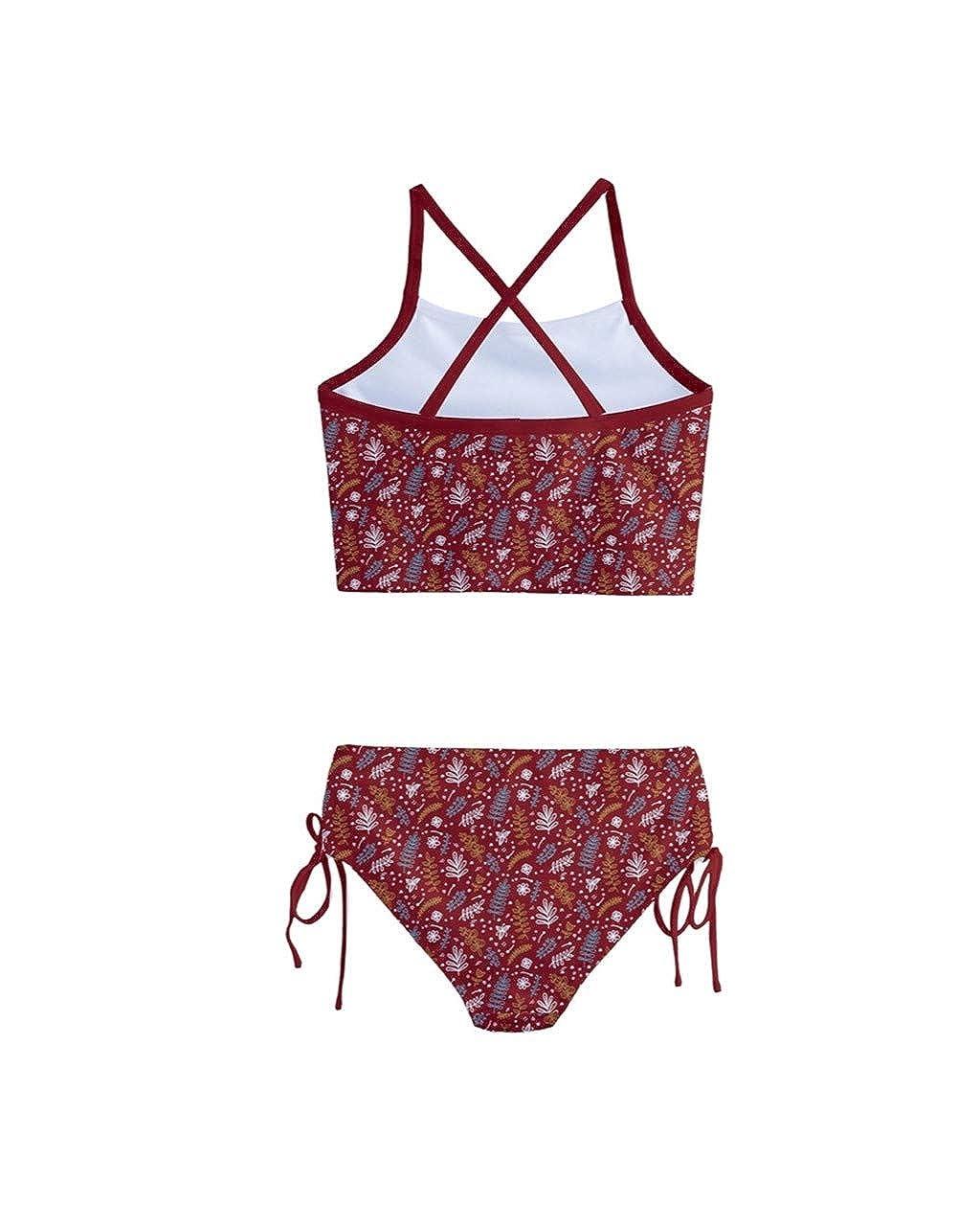 PattyCandy Little//Toddler Girls Girly Swimwear Unicorn Princess Rainbows Kids Tankini Swimsuit Bikini Set