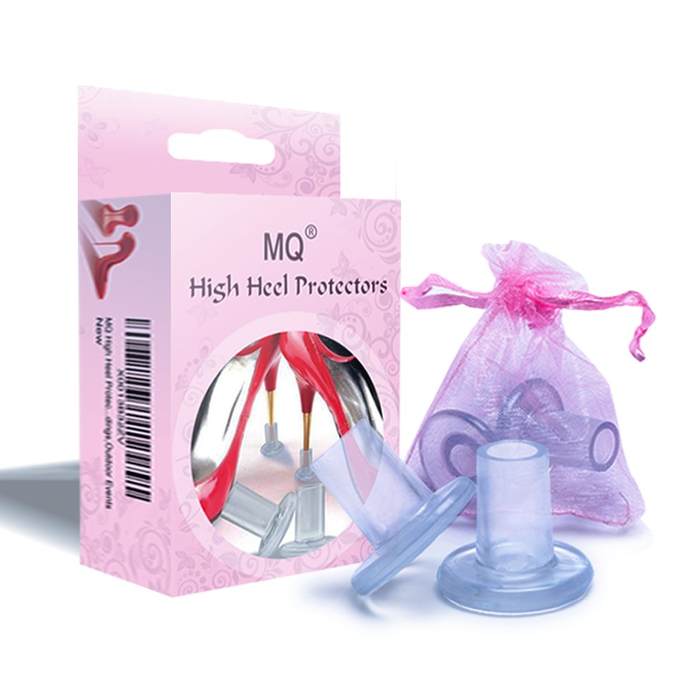 Amazon.com: MQ High Heel Protectors(2 Pairs/Clear) for Walking On ...