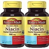 Nature Made Flush-Free Niacin (B3) 500 mg. 60 Softgels (Pack of 2)