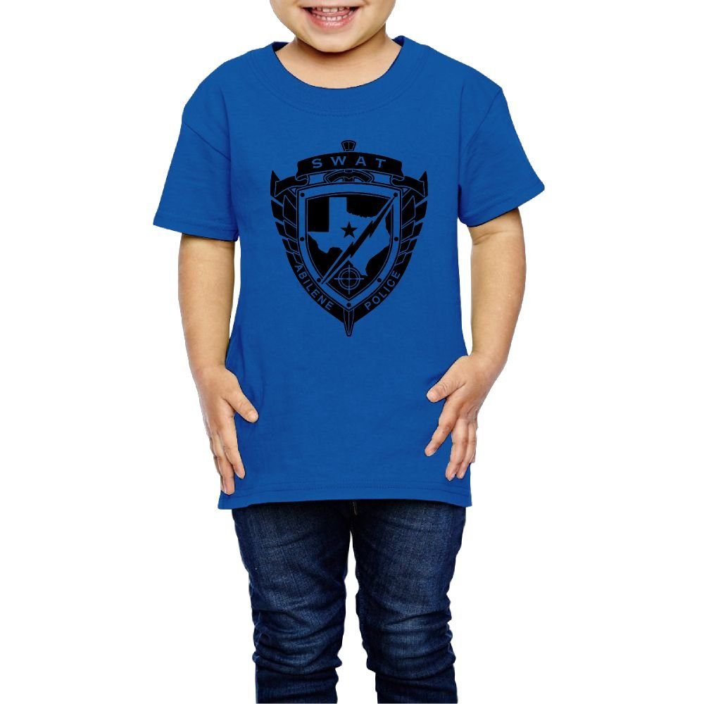 Girls SWAT T Shirts Photoshoots Or Hiking Camping Travel Vacation T-Shirt Or Daily Wear RoyalBlue 5-6 Toddler