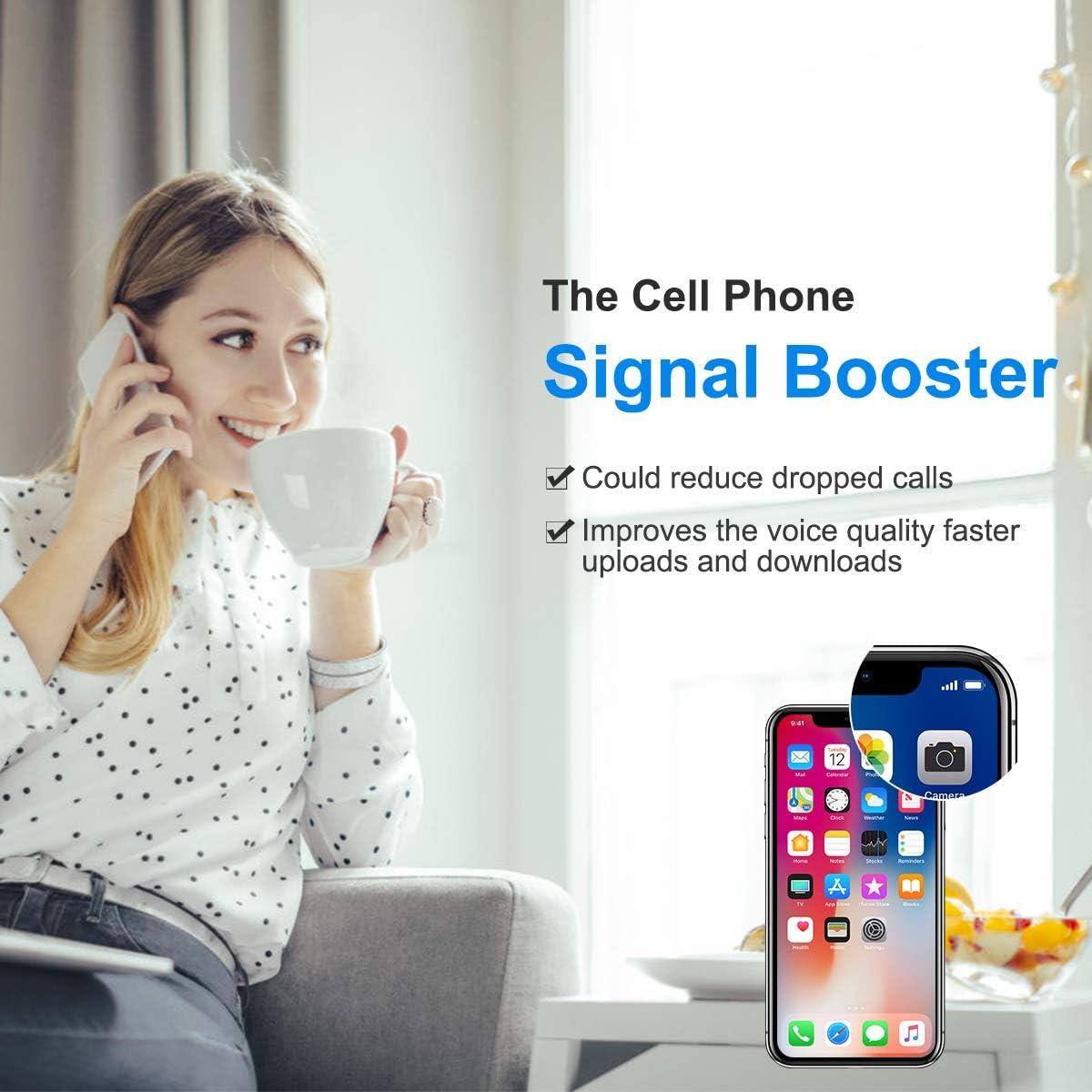 Cell Phone Signal Booster Verizon 4G LTE 700Mhz FDD Band13 Boost Data and Voice Verizon Cell Signal Booster Verizon Cell Phone Booster Repeater Mobile Signal Booster Amplifier BOSURU With Antennas Kit