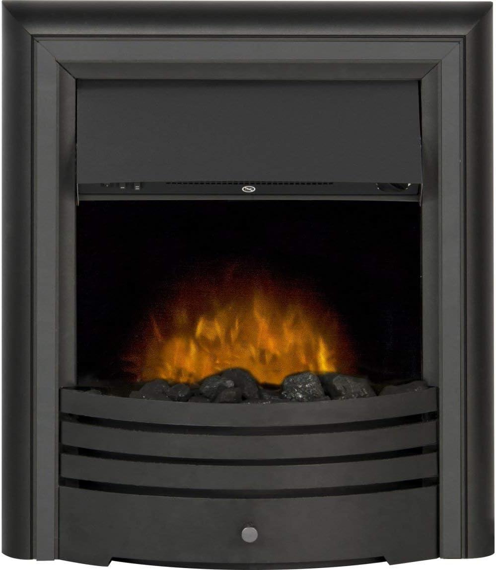 Adam Cambridge 6-in-1 Electric Fire in Black