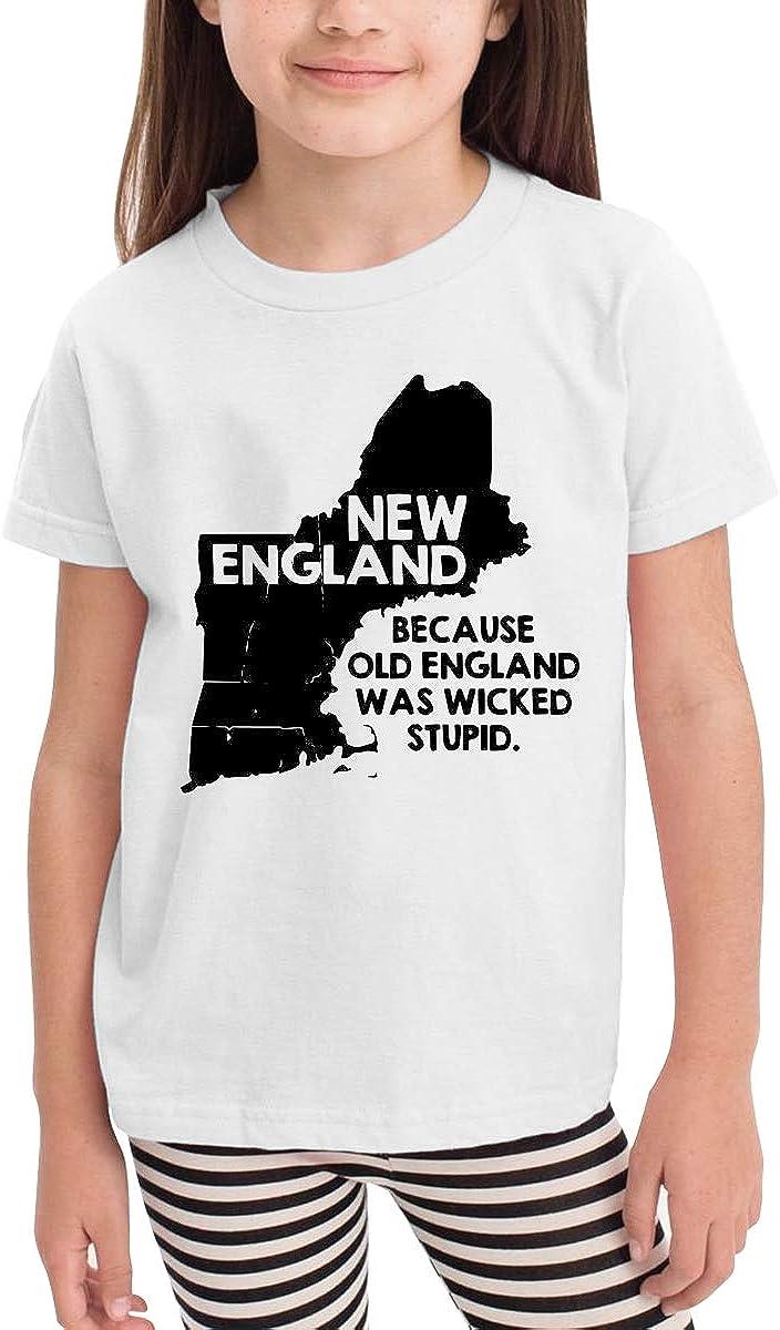 Because Old England Cute Short Sleeve Tee Shirt Size 2-6 CERTONGCXTS Baby Girls Kids New England