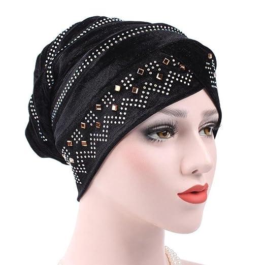 ee6f1147184 Fabal Muslim Headscarf Women Soft Comfortable Inner Hijab Caps Islamic  Underscarf Hats Hot (Black)