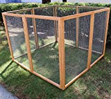 Magshion Wooden Chicken Coop Rabbit Hutch Pet Cage Wood Small Animal Poultry Cage Run (HUTCH006)