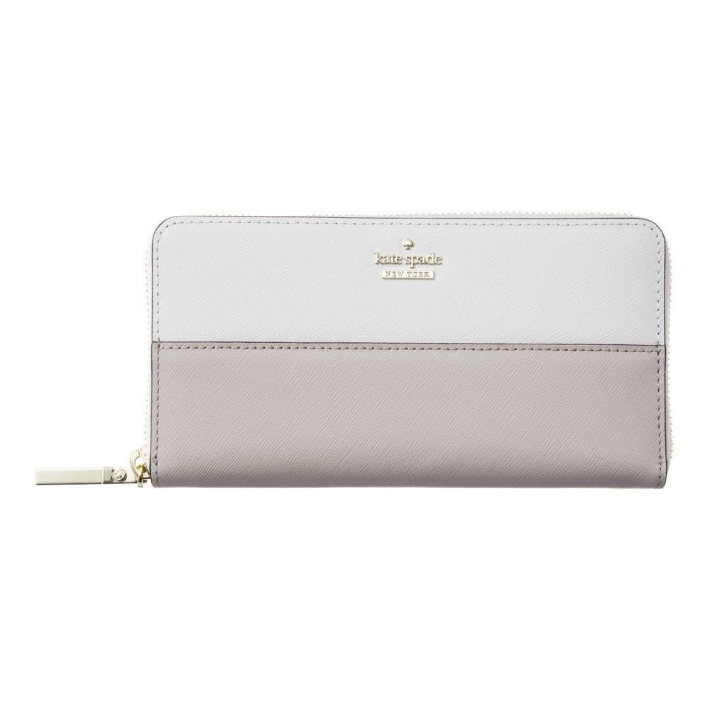Kate Spade New York Cameron Street Lacey zip around continental wallet, Cement/Tusk