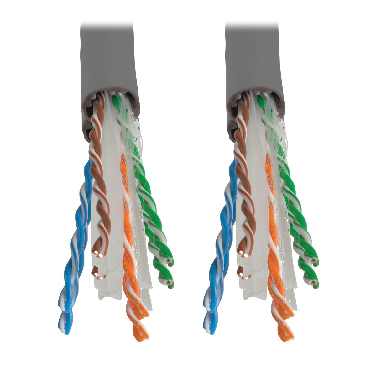 Tripp Lite Cat6 Gigabit Bulk Solid Plenum-Rated Cable Gray, 1000-ft.(N224-01K-GY) by Tripp Lite