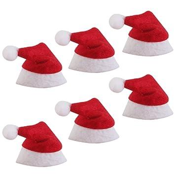 1831368865166 Amazon.com  Jili Online 6 Pieces Mini Santa Claus Hat Christmas Xmas ...