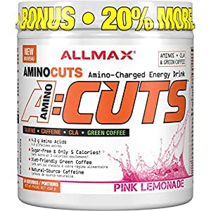 AllMax Amino Cuts - Amino Charged Energy Drink - Pink Lemonade - (36 serve) 252g
