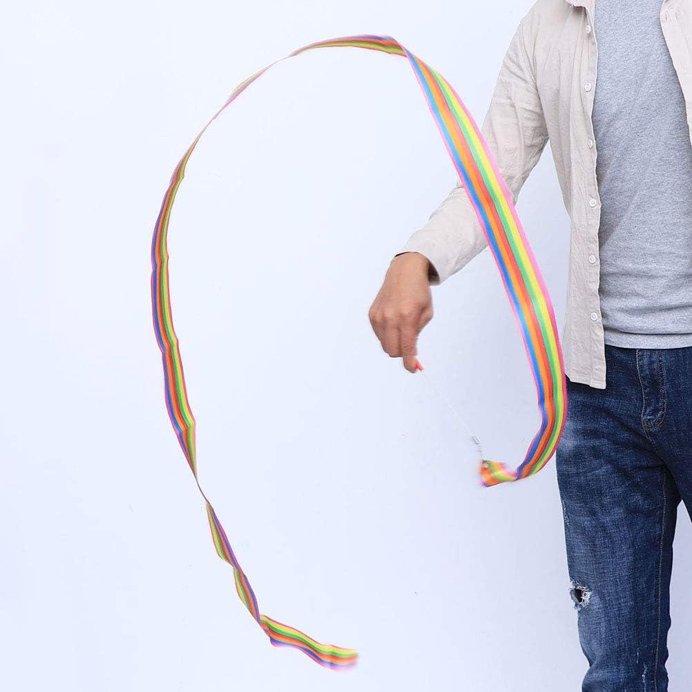 Toyvian Serpentinas del baile de la cinta de la gimnasia r/ítmica colorida de los 2m para los ni/ños 4pcs